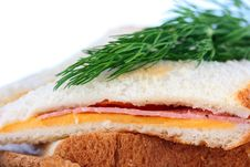 Hot Sandwich Royalty Free Stock Photography