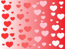 Vector Heart Background Royalty Free Stock Photography