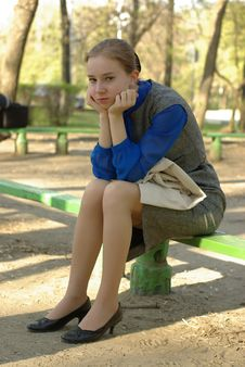 Free Sitting Girl Royalty Free Stock Image - 14164546