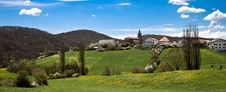 A Small Village In The Spanish Pyrenees Called Biz Royalty Free Stock Image