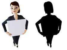 Free Businesswoman And White Panel Stock Images - 14164674