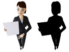 Free Businesswoman And White Panel Stock Image - 14164751