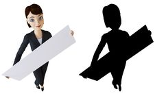 Free Businesswoman And White Panel Royalty Free Stock Photos - 14164878