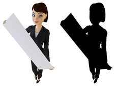 Businesswoman And White Panel Royalty Free Stock Images