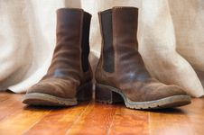 Free Work Boots Stock Image - 14165151