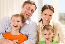 Parents With  Children Together Royalty Free Stock Images