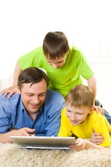 Father With His Sons Royalty Free Stock Images