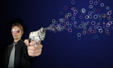 Free Bubble Gun Royalty Free Stock Images - 14166109