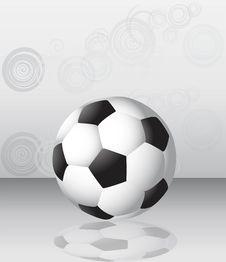 Free Single Football Ball Background Royalty Free Stock Photography - 14166427