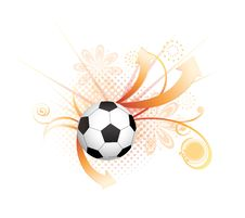 Free Abstract Football Creative Design Stock Photo - 14166430