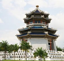 Pagoda. Traditional Chinese Temple Stock Photo