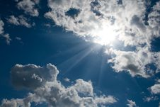 Free Blue Sky With White Cumulus Stock Photos - 14166733