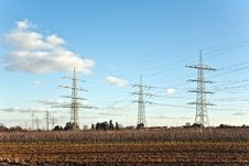 Electricity Tower In Beautiful Landscape Royalty Free Stock Image