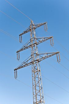 Free Electricity Tower In Beautiful Landscape Royalty Free Stock Photos - 14166978