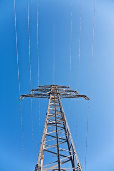Electricity Tower In Beautiful Landscape Stock Photography