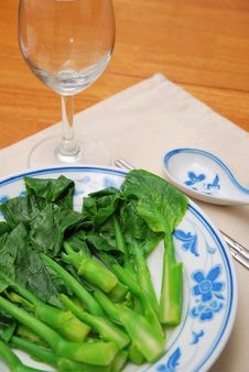 Free Simple Chinese Style Vegetables Royalty Free Stock Photography - 14167097