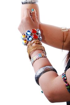 Jewelery In Hand Stock Image