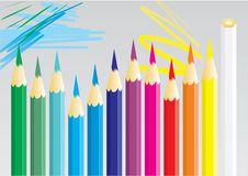 Free Dozen Of Coloured Pencils Royalty Free Stock Photo - 14167215