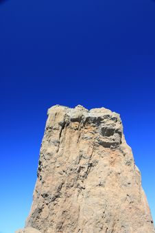 Free Rock Formation And Blue Sky On Gran Canaria Stock Photography - 14167382