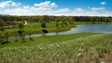 Free River Landscape In Spring Park Royalty Free Stock Photo - 14167625