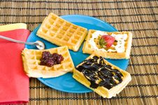 Free Freshly Made Waffles Royalty Free Stock Photography - 14167847