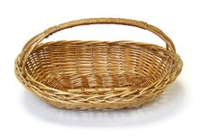 Small Wicker Basket Royalty Free Stock Images