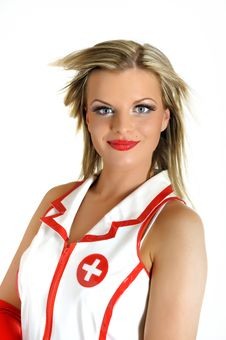 Young Beautiful Sexy Doctor In Uniform Stock Photo