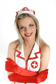 Young Beautiful Sexy Doctor In Uniform