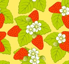 Free Pattern With Strawberries Royalty Free Stock Photography - 14169277