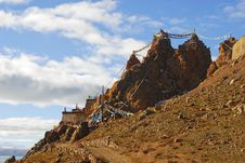 Free A Tibetan Castle On Mountain Royalty Free Stock Images - 14169839