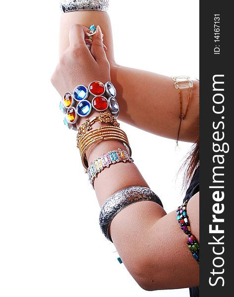 Jewelery in hand