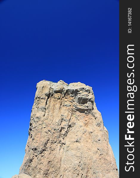 Rock Formation and Blue Sky on Gran Canaria