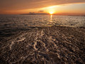 Free Sunset On The Rocky Beach Stock Photos - 14170873