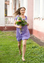 Free Girl With Flowers Stock Images - 14171204