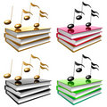 Free Learn Music And Song By Books Icon Symbol Royalty Free Stock Images - 14171279