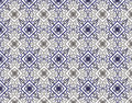 Free East Retro Blue Seamless Flower Pattern Royalty Free Stock Images - 14173019