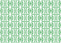Free Retro Green Seamless Flower Pattern Stock Photo - 14173070