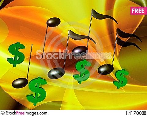Free Financial Music Symphony Royalty Free Stock Photos - 14170088