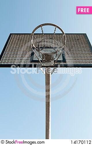 Free Outdoor Metal Basketball Hoop Stock Photography - 14170112