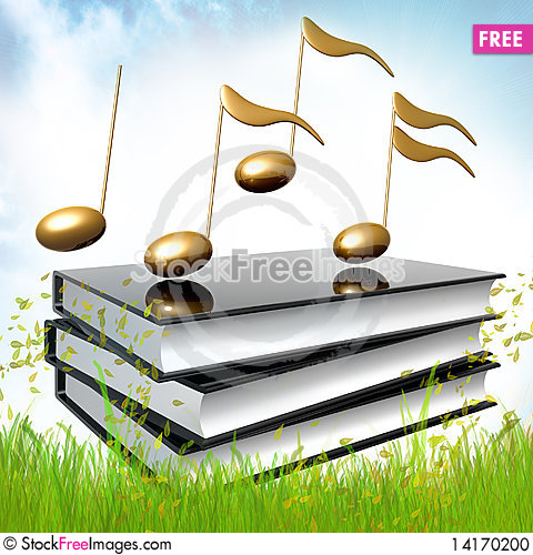 Free Black Books About Musical Symphony Notes Stock Photo - 14170200