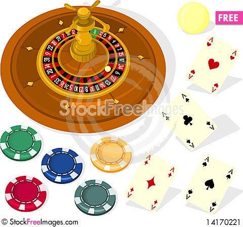 Free Casino Set Stock Image - 14170221