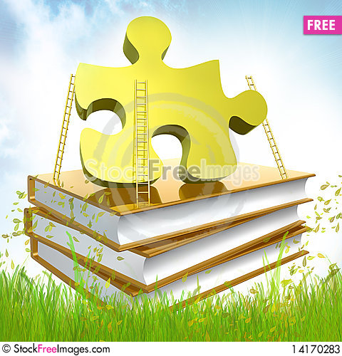 Free Golden Books About Solution Stock Photos - 14170283