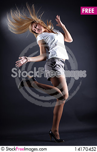 Free Woman Modern Dancer Stock Photography - 14170452