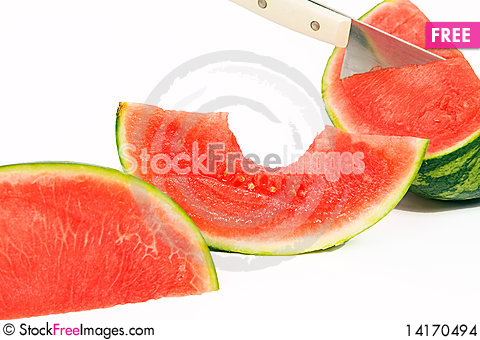 Free Slices Of Watermelon Stock Images - 14170494