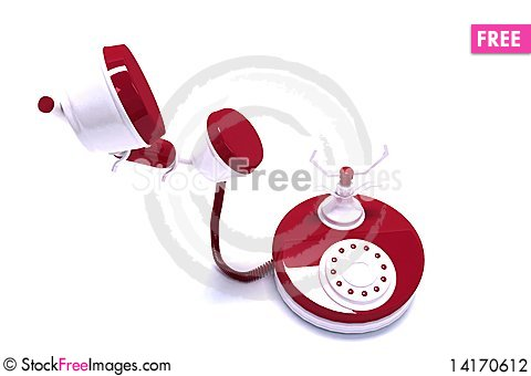 Free Red Phone Stock Photography - 14170612