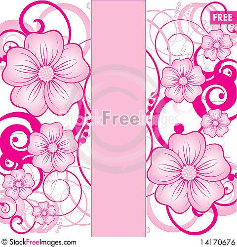 Free Abstract Floral Background Royalty Free Stock Image - 14170676