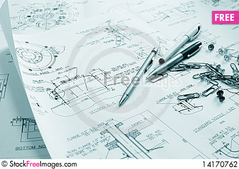 Free Technical Drawing Stock Photography - 14170762