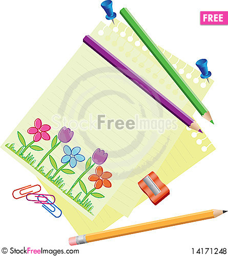 Free Stationery Royalty Free Stock Photos - 14171248