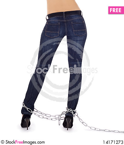 Free Female Body In High Heel Shoes In Chains Stock Photos - 14171273