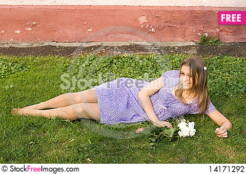 Free Girl With Flowers Stock Photography - 14171292